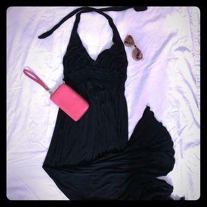 Black Maxi dress backless